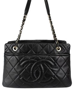 Chanel Cc Caviar Skin Chain Shoulder Bag