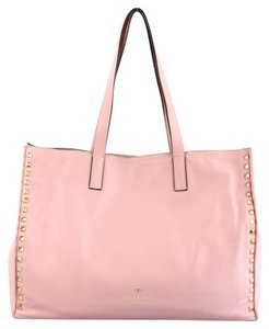 Valentino Leather Tote in Light Pink