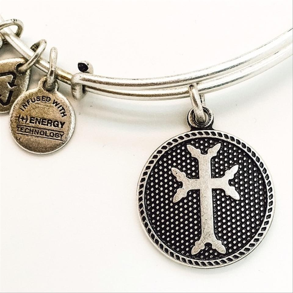 charm wire products bangle by rosemarie my collections bracelet christian spirit bangles inspirational jewelry dangle cross religious