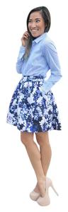 Express Mini Skirt Blue Floral