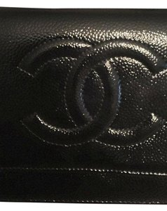 Chanel Woc Wallet On Chain Caviar Patent Cross Body Bag