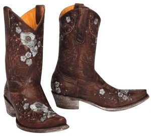 Old Gringo Embroidered Distressed Western Shelby Cowgirl Brown Boots