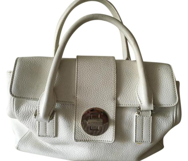 Item - Manhattan Purse White/Off-white Leather Satchel