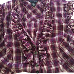 Tommy Hilfiger Top Purple white blue
