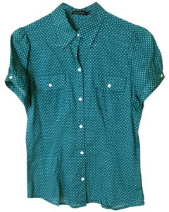The Limited Polka Dot Shirt Top Green