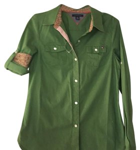Tommy Hilfiger Top Green pink
