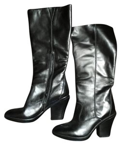 Kenneth Cole Leather Black Boots