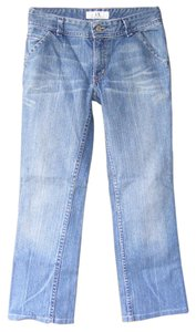 A|X Armani Exchange Twisted Seams Light Wash 25.5 Inseam Denim Boot Cut Jeans-Light Wash
