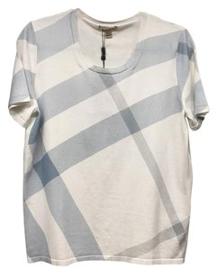 Burberry T Shirt White blue