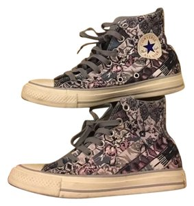 Converse Limited edition grey pink floral Flats