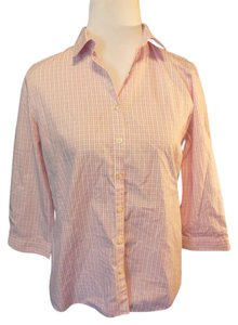 Lands' End Button Down Shirt Pink