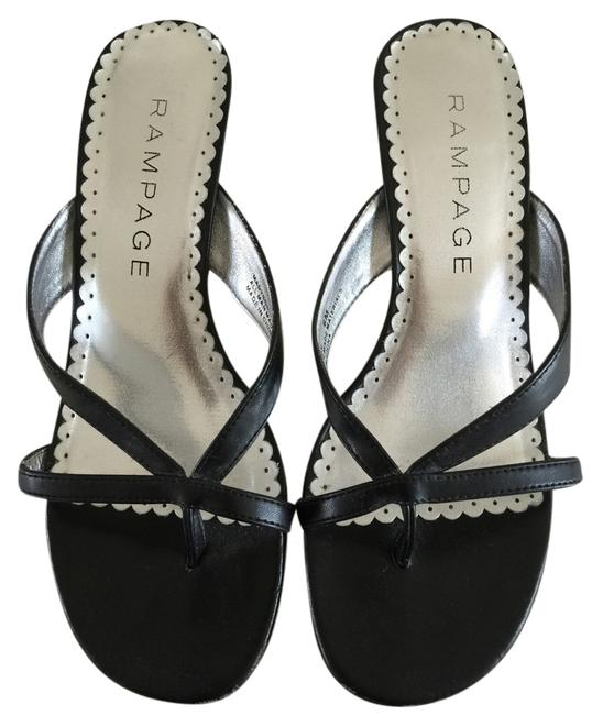 Item - Black Leather Sandals Size US 6 Regular (M, B)