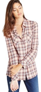 BCBGeneration Xqn1t510-h66 Button Down Shirt Pink Coral