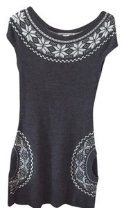 Charlotte Russe short dress Gray woth white detail on Tradesy