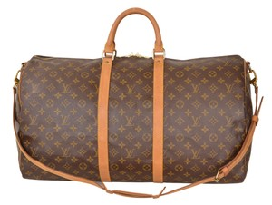 Louis Vuitton Lv Keepall W Strap Brown Travel Bag