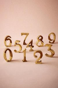Bhldn Teak Table Numbers For Wedding