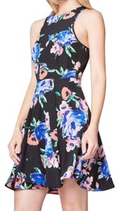 Yumi Kim short dress Black Multi Floral Printed Fit And Flare Swing on Tradesy