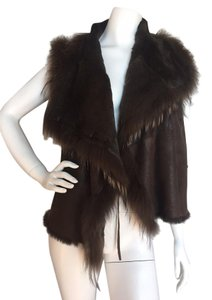 Yves Salomon Soft Luxury Raccoon Fur Rabbit Fur Vest