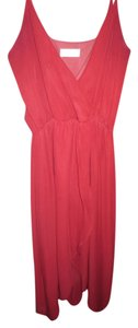 Red Maxi Dress by Honey Punch Hi-low Spaghetti Strap Empire Waist