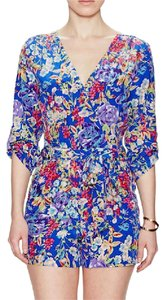 Yumi Kim Waist Liz Crossover V Neckline Long Sleeve Silk Flower Power Dress