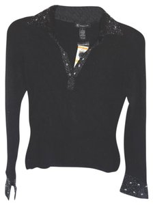 INC International Concepts Angora Blend Longsleeve Top BLACK