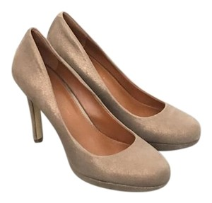 Banana Republic Beige/gold metallic Platforms