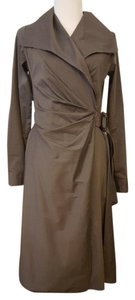 Max Mara Casual V-neck Cotton Wrap Dress