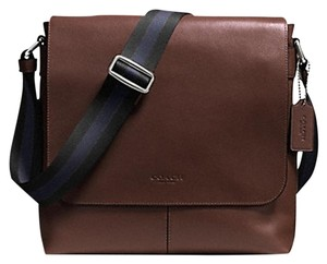 Coach Cross Body File Laptop Charles Messenger Mahogany (Dark brown) Messenger Bag