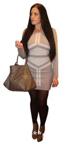 BCBGMAXAZRIA short dress Taupe Bcbg Sweater Contured Wool Winter on Tradesy