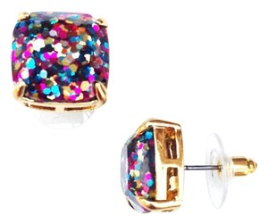 Kate Spade NEW Kate Spade New York MINI Glitter Studs in Multicolor 12k Gold