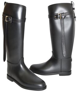 Burberry Wedge Snow Winter BLACK Boots
