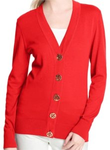 Tory Burch Gold Hardware Cotton Cardigan