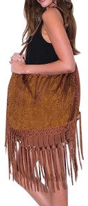 Southern Girl Fashion Muche Et Muchette Faux Suede Fringed Oversized Luggage Beach Tote Hobo Bag