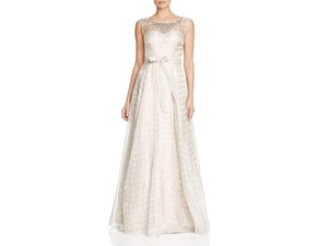 Aidan Mattox Sleeveless Organza Ball Gown Wedding Dress