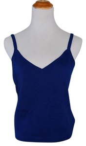 St. John Knit Casual Top Royal Blue