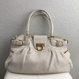 Salvatore Ferragamo Satchel in Cream