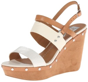 Dolce Vita Wedge Cream and Carmel Wedges