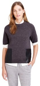 J.Crew Wool Merino Wool Leather Sweater