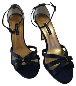 Caparros Satin Rhinestone Strappy Heel Black Formal