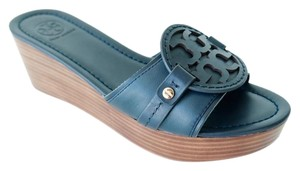 Tory Burch Bright Navy Wedges