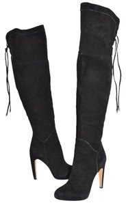 Sam Edelman Over The Knee Tall Platform Heel BLACK SUEDE Boots