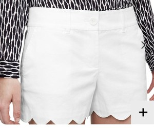 Ann Taylor LOFT Scalloped Dress Shorts White