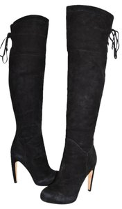 Sam Edelman Over The Knee Tall Boot BLACK SUEDE Boots