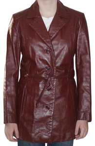 Etienne Aigner Red Leather Jacket