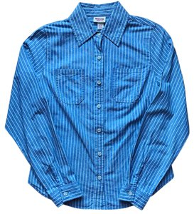 Mossimo Supply Co. Button Down Shirt Blue, white