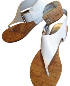MICHAEL Michael Kors White, tan cork Sandals