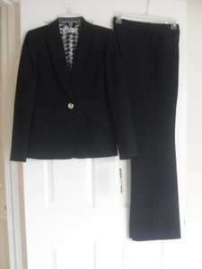 Tahari Tahari ASL New Womens Black One Button Jacket Pant Suit 4 $280