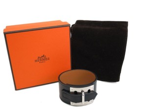 Hermès INTENSE BOX CALF CUFF BLACK PALLADIUM HARDWARE