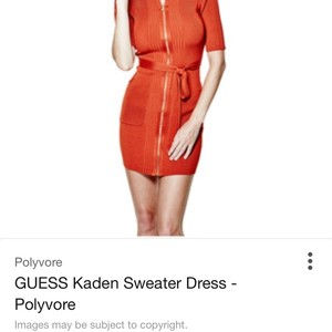 Guess short dress Orange on Tradesy