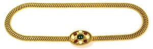 Chanel CHANEL Vintage '50s-'60s Pearl & Gripoix Gold Chain Belt